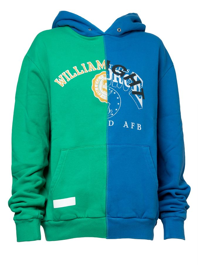 Off-White Reassembled Hoodie-Blue and Green | KIRNA ZABETE saved by #ShoppingIS