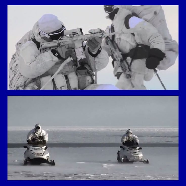 Canadian special forces practicing arctic warfare and winter survival.
