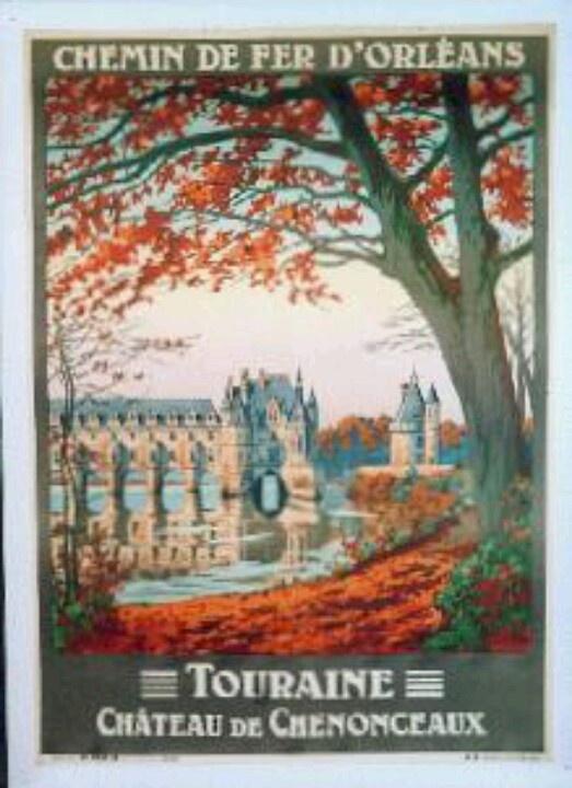 Chemin de fer d'Orleans, Chateau de Chenonceaux | Vintage ...
