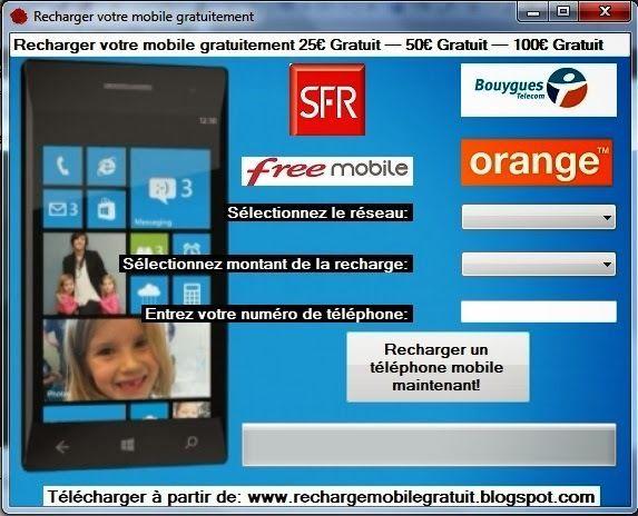 Recharger Votre Mobile Gratuitement Orange Bouygues Telecom Free   eBay