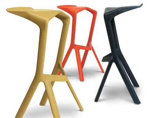 Simple High stackable polypropylene stool MIURA I Stool by Plank design Konstantin Grcic