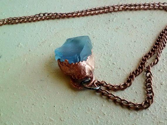 Sky Blue Seaglass Pendant Necklace by JennieVargasJewelry on Etsy,