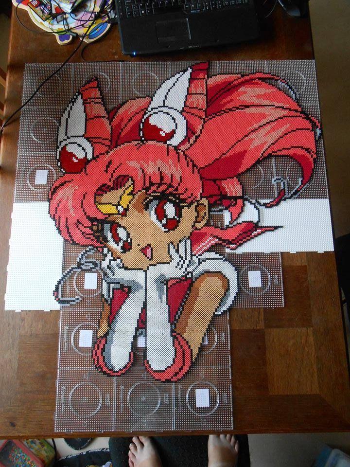 Chibi Sailor Moon hama perler bead art by steliane - hama.dk