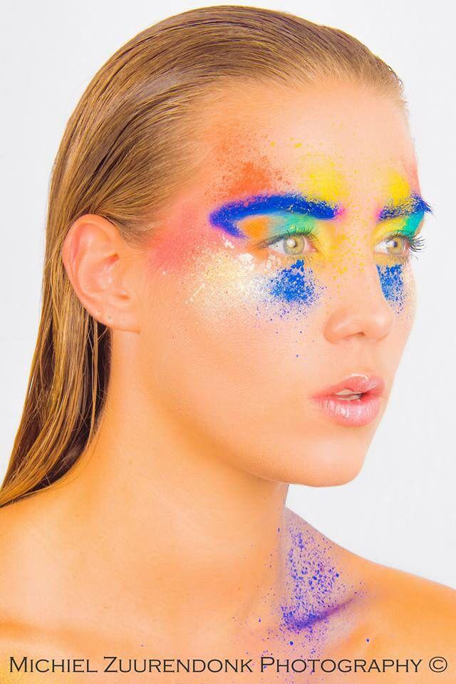 #make-Up #color #splash #airbrush #visagie  #nijkerk #workshop #visagieworkshop #make-up workshop # muah #mua  Model:klaske van der horst Fotograaf: Michiel zuurendonk  Muah: Mariska ham