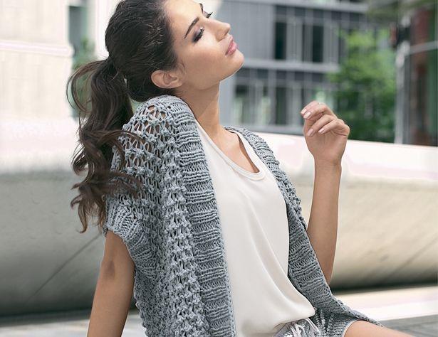 Описание вязания на спицах объемного ажурного жилета из журнала «Verena. Спецвыпуск» №1/2016