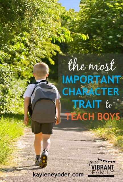 This one character trait is one that will impact your sons whole character. It will shape him & prepare him for his whole life. Are you teaching your son this?
