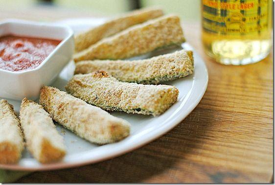 Baked Zucchini Sticks, only 2 WW points!