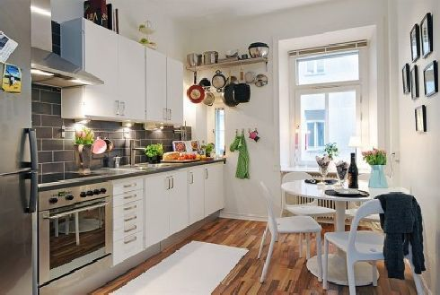 Nice Idea for our kitchen: Small Apartments, Decor Ideas, Kitchens Ideas, Small Kitchens Design, Galley Kitchens, Kitchens Layout, Small Spaces, Small Apartment Kitchens, Design Style