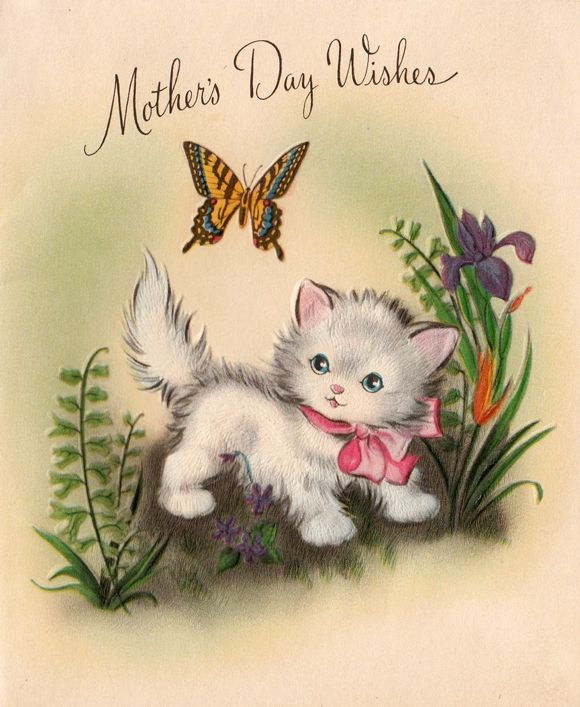 41 best Mother's Day Cats images on Pinterest | Vintage cards ...