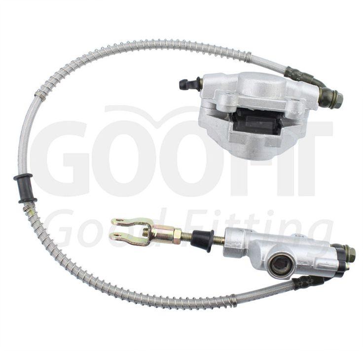 GOOFIT Rear Disc Brake Assembly Master Cylinder Caliper for Taotao ATV Quad 150cc 200cc 250 Cc