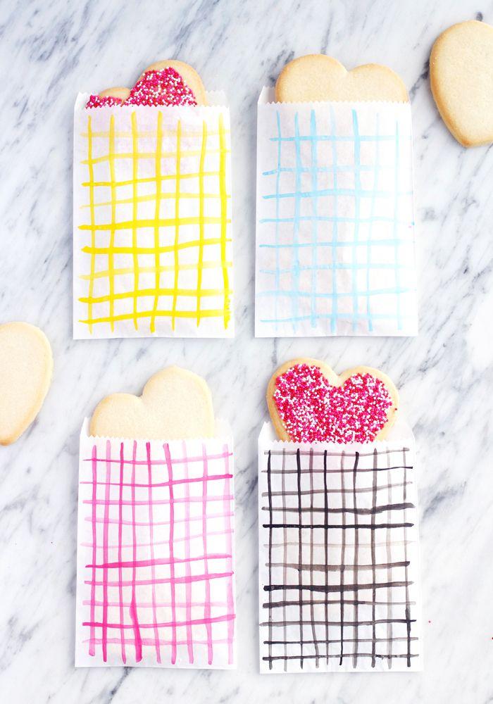 DIY valentines treat bags