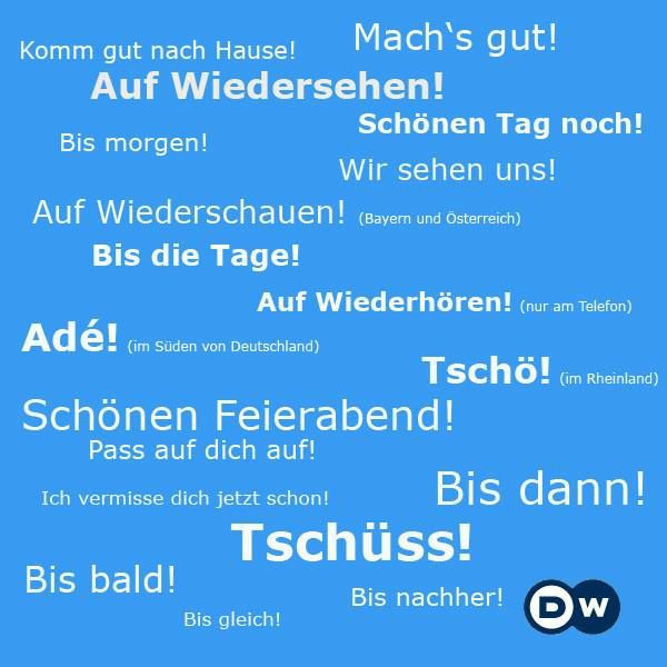 Wie man sich verabschieden kann // Variations of how to say goodbye in German