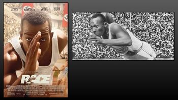 FREE PowerPoint to accompany the Movie Race, a 2016 biographical sports drama film about African American athlete Jesse Owens, who won a record-breaking four gold medals at the 1936 Berlin Olympic Games. Directed by Stephen Hopkins and written by Joe Shrapnel and Anna Waterhouse, the film stars Stephan James as Owens, and co-stars Jason Sudeikis, Jeremy Irons, William Hurt and Carice van Houten.This PowerPoint should help students compare and contrast Hollywood and actual Historical events.