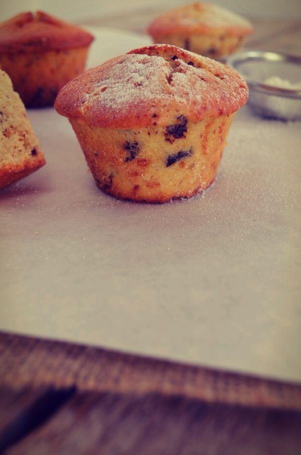 Muffins με σταγόνες σοκολάτας