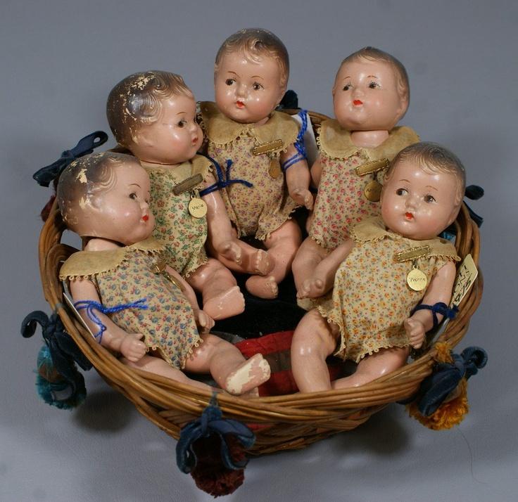 Set of 5 Madame Alexander Dionne Quintuplet babies