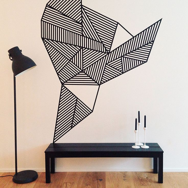 Masking tape wall art | by Land of Nord