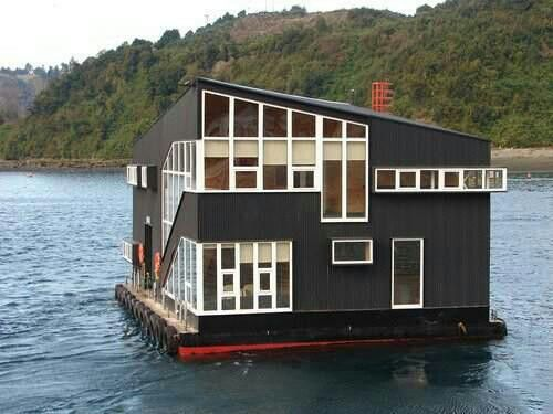 17 best images about docks boats and floating ideas on pinterest houseboat amsterdam pontoon - Floating prefabricated home ...
