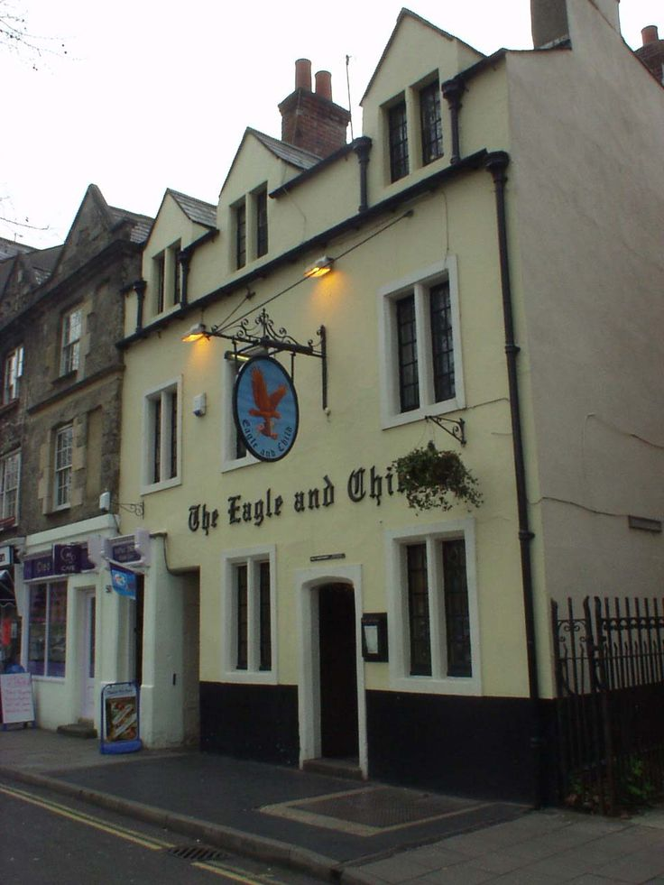 The Eagle and Child, pub in Oxford, England: The Inklings, the close-knit Oxford reading and writing group met here (amongst them, Tolkien and Lewis <3 )