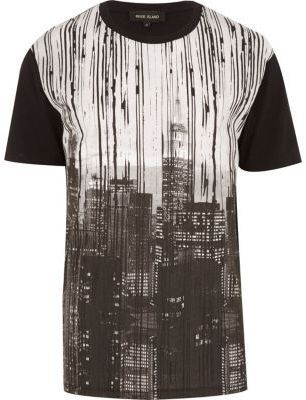 River Island Black New York print t-shirt on shopstyle.co.uk