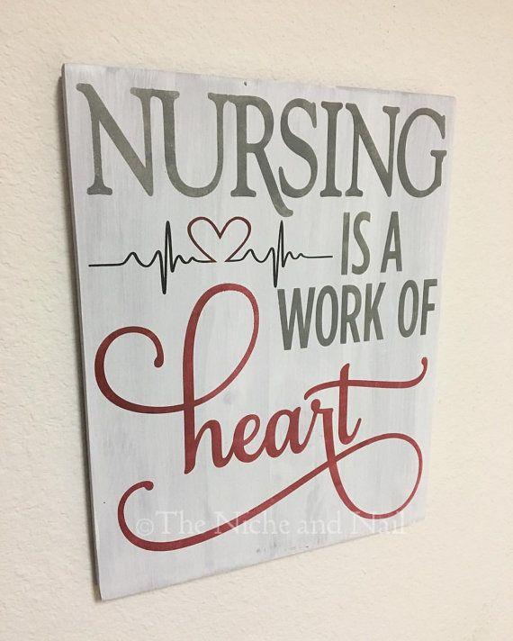 Nursing Sign, Gift for Nurse, Handmade Gift, Office Decor, Gift for Her, Gift for Him, Nurse Gift, Wooden Sign