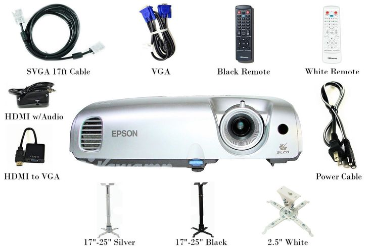 Epson S3 LCD Projector 1600 ANSI HD 1080i HDMI-Adapter w/Accessories