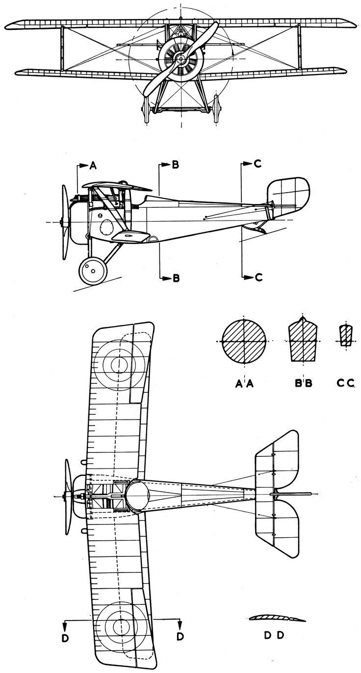 109 best blueprints images on pinterest aircraft airplane and nieuport 17 blueprint malvernweather Choice Image