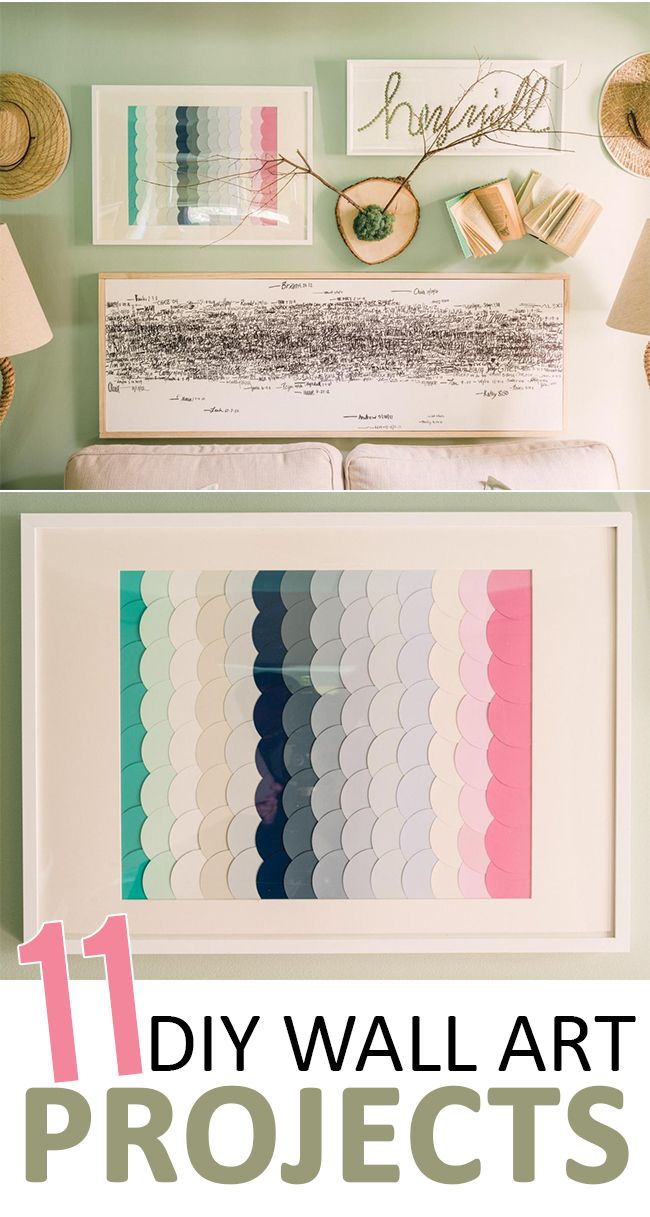 DIY Wall Art Projects - Sunlit Spaces. Artwork can be really expensive, but it…