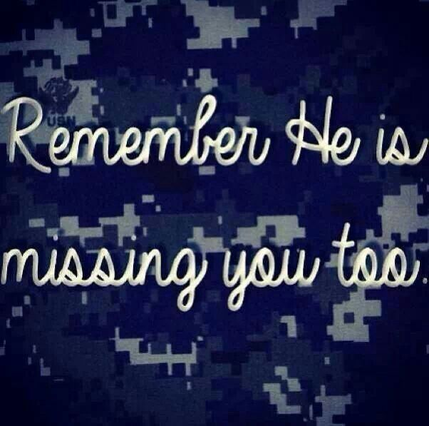 He is missing you too - MilitaryAvenue.com #MilSpouse