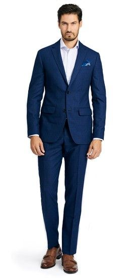 d2221f90f22c The perfect Men's Custom Suit in Bottsford Check Blue fabric, perfect for  your wardrobe. Shop a wide selection of Men's Custom Suits, blue suits, navy  suits ...