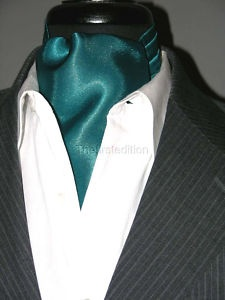 NEW Modern Day Silk Ascot Cravat Tie Teal | eBay