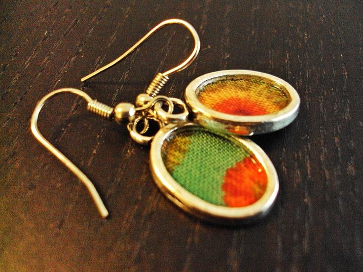 Brincos de tecido / Fabric earrings