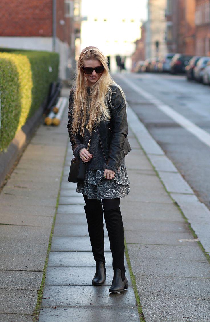 2016 ooft bloggens julekalender 2015 Amy Dyrholm outfit billeder Ganni nederdel Zara lange støvler rings Hvisk Carré Celiné New Audrey nytår nytårsaften