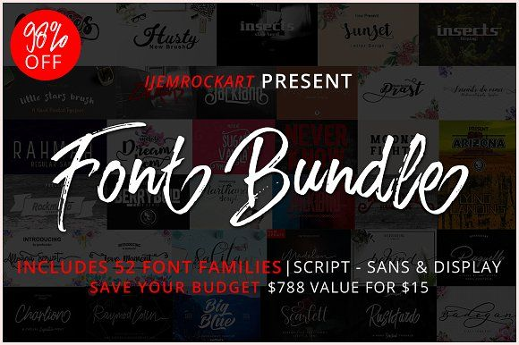 Font Bundle 2018 by Ijemrockart on @creativemarket