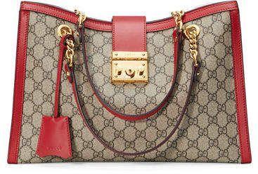 9b21d11db2 Gucci Padlock GG Supreme Canvas Medium Shoulder Bag | purse | Gucci ...