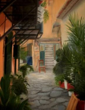 "Saatchi Art Artist ΑγγελικΗ  Aggeliki; Painting, ""An empty throne"" #art 60X45cm, oil on canvas - NOT AVAILABLE"