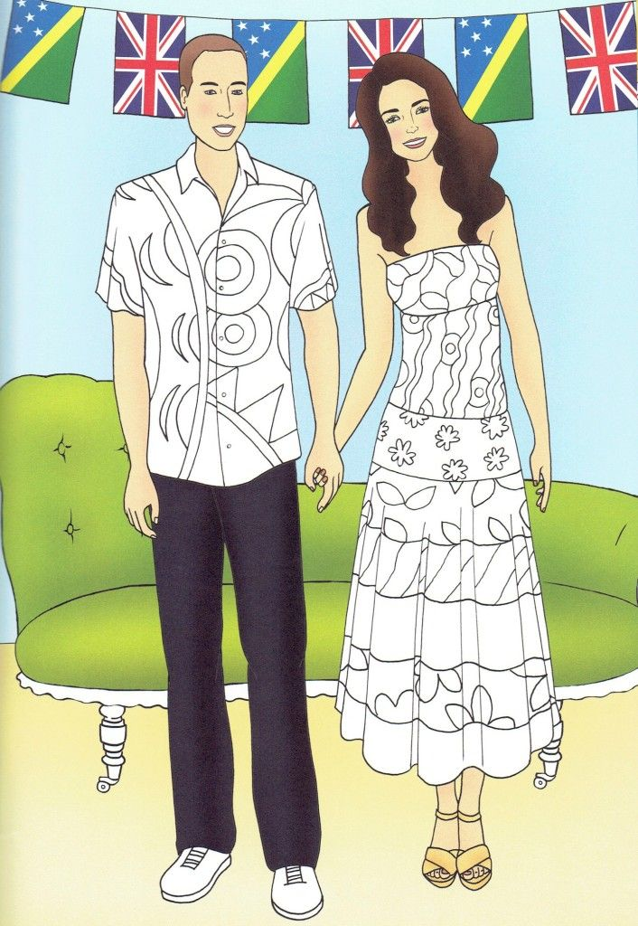 Princess Kate Coloring Pages : Best images about kate middleton colouring pages on