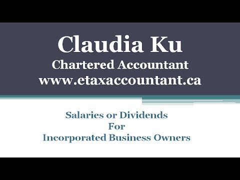 Corporate income tax tip Canada - If you are a business owner of a Canadian corporation, you have a number of options to get money out of your company.  Dividend and salary are the two common options.  Do you know which options is best suited for your situation?  Visit www.etaxaccountant.ca or call Claudia Ku today at 416-417-1215 to find out how Claudia can help you.