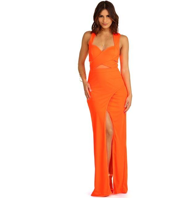Promo- Aurelia- Neon Orange Formal Dress