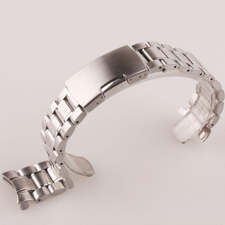Neue Hochwertigem Edelstahl Uhrenarmbänder für Männer Frauen 18mm 20mm 22mm 24mm Uhrenarmband Strap Gerade Ende Armband