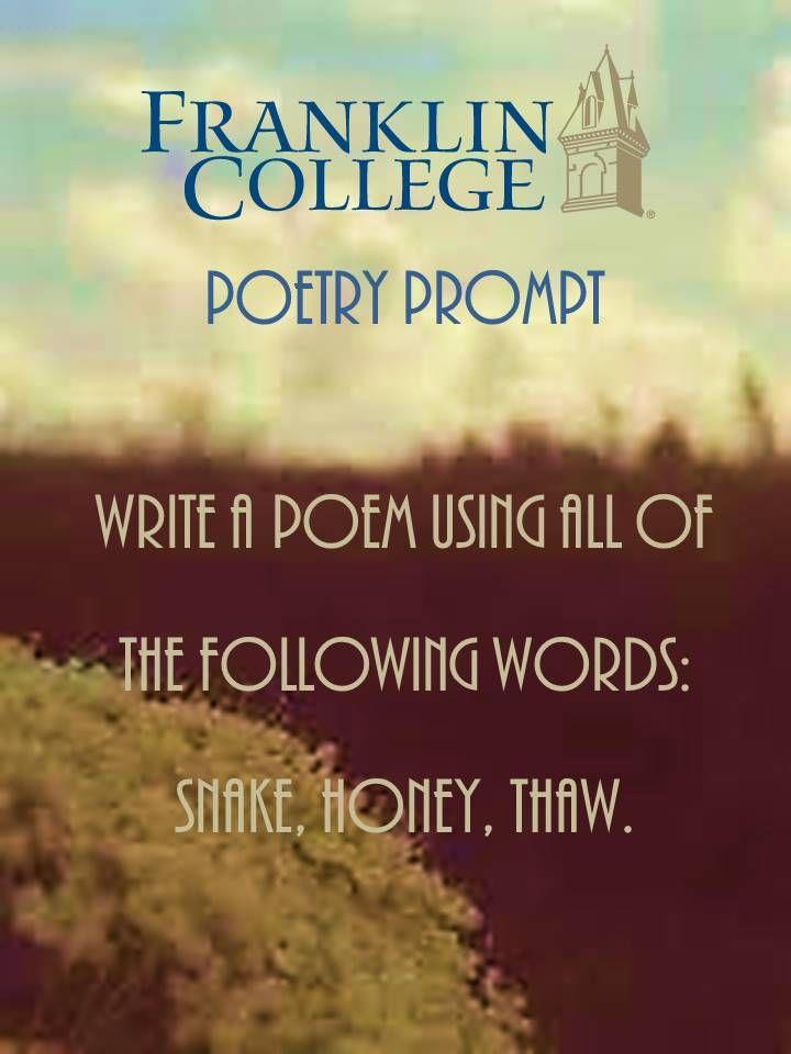 Creative writing poetry ideas