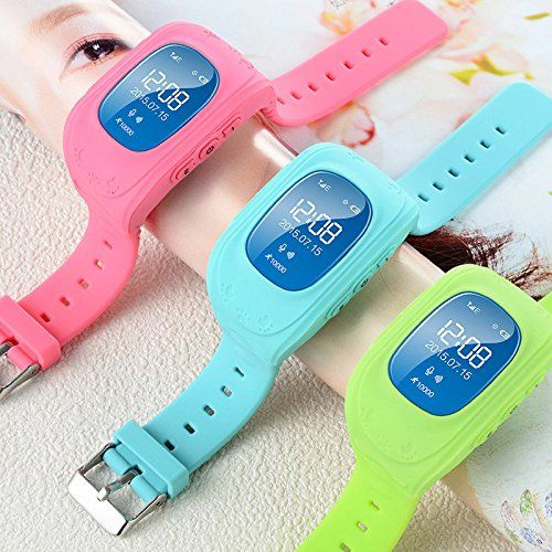 Pink Lizard Anti-Lost Smart Watch GPS Tracker SOS Security Alarm Monitor for Kids Baby Pets -- You can get more details by clicking on the image.