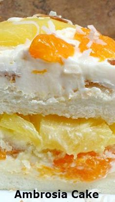 Ambrosia.Cake. #best recipe to try