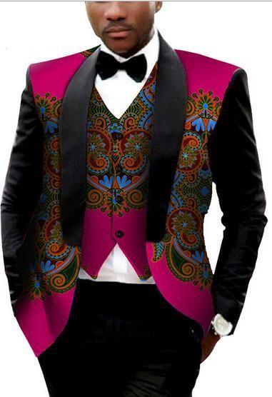 African men For Dashiki Cotton Men Traditional 2018 Are Batik Mens Suit Vest 75e74f299a8
