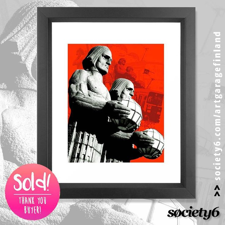 Sold!!!  ..thanks to the recent buyer of this 'Stone Men of Helsinki' framed-print from my @society6 webshop. #society6 #thankyou #redandblack #instadesign #instafinland #design #sold #stonemenofhelsinki #helsinki #popart #shareyoursociety6 #art #instaart #kivimiehet #statues #red #instaart #artist #artistsofinstagram #finland100 #instalike #instahelsinki #instalikes #konst #taide #arte #kunst #konstnär #instaartist #framedprint #print