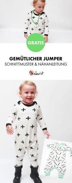 Gratis Anleitung: Jumper für Kinder nähen - Schnittmuster und Nähanleitung via Makerist.de