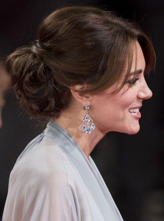 Catherine's clever up do. #DuchessofCambridge #KateMiddleton #Hairstyles