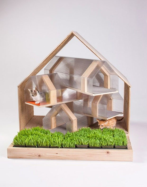 Casas de gatos com design (Foto: Grey Crawford / Divulgação)