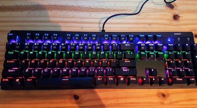 Mechanische Gaming Tastatur von Aukey im Test  http://www.mihaela-testfamily.de  #Aukey #Tastatur #Gaming #mechanischeTastatur #Technic