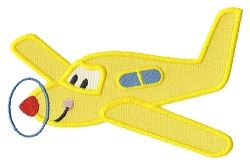 Happy Plane Applique - 3 Sizes! | Airplanes | Machine Embroidery Designs | SWAKembroidery.com Applique for Kids