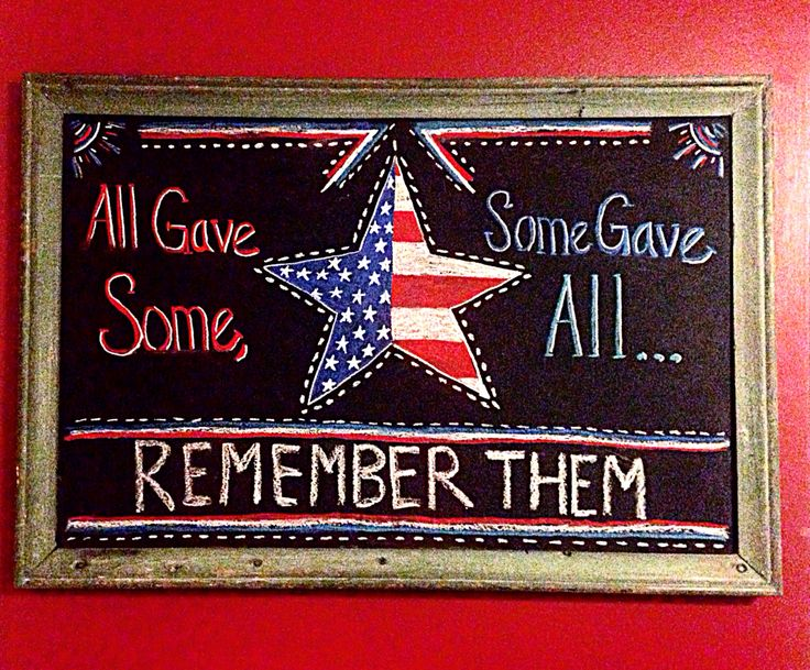 2015 Memorial Day chalkboard art